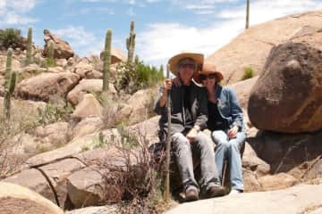 Hunt for petroglyphs in Catalina mountains, Arizona. We just LOVE the Southwest!