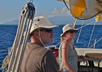 With our 3 sons, we sailed aboard our 45'/15m sailboat from Massachusetts to the soutwest Pacific Ocean