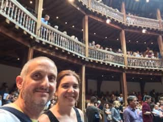 At Shakespeare's Globe Theatre in London. What a great experience...