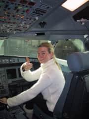 Karin in the Cockpit