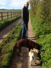 Rob and the Blewbury dogs
