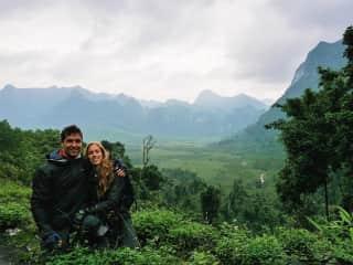 Us on our motorbike ride through Vietnam