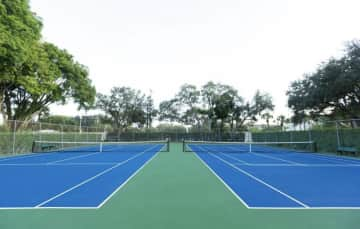 Brand new pickle ball and tennis courts plus basketball