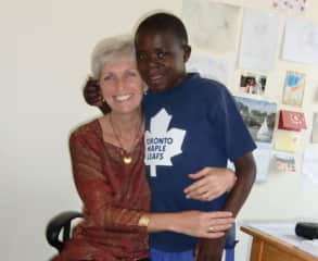 with one of the street kids I worked on behalf of in Tanzania