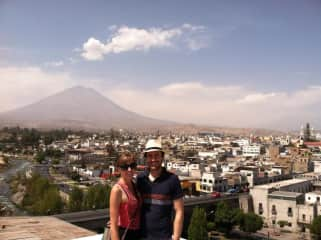 Eathan and Christine spent a year and a half living in this city -- Arequipa, Peru