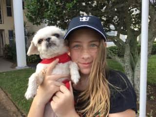 Poppy with Mia in Vero Beach, Florida 2018
