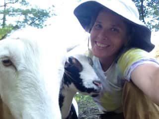 Me and my friends goats in Ellenville NY