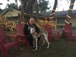 Arturo with Emile in a housesit in Tampa, Fl