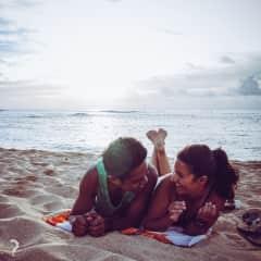 Marco and Fran Enjoying The Beach