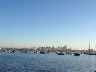 view of city from Williamstown