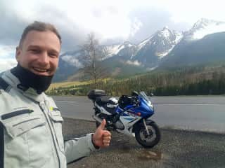 During my moto trip in Tatry mountains!