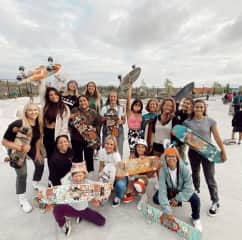I'm a part of a few different girl skate groups that I've loved being in. This group is called Babes and Boards.