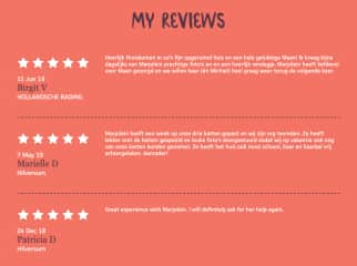 Marjolein's reviews on the catsitting website CatInAFlat - for which I am a professional catsitter in our hometown.