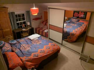 Double bedroom and double sofa bed