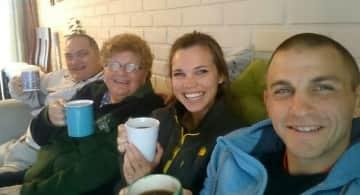 Tea with Scott's folks
