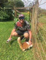 Michael at Leilani Farm Animal Sanctuary, Hawaii
