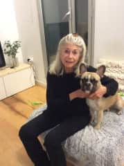 Marcia and a pet she cared for