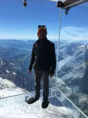 At the top in Chamonix, France -  From our 2017 Adventure