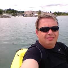 Jeremy Kayaking in Georgian Bay