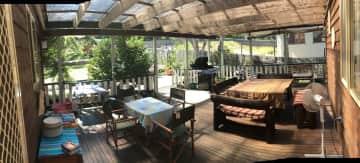 Our undercover back verandah