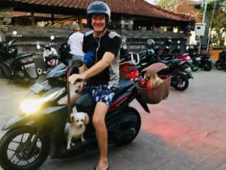 Bunny and Bella and me, Bali May 2019