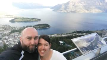 Orla and I in Queenstown, NZ