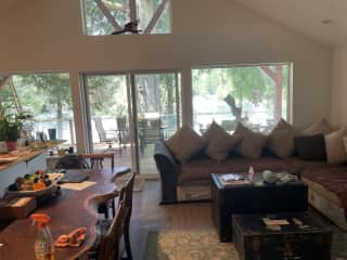 Main floor, living, dining, and kitchen are all together