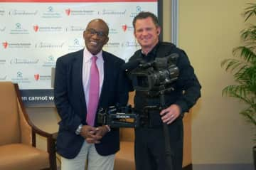 Chris with Al Roker from NBC