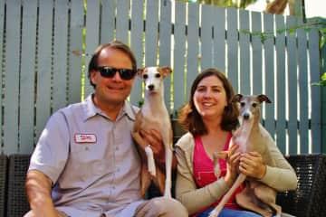 Kris and Sarah with Balki and Harvey in Brisbane, Australia