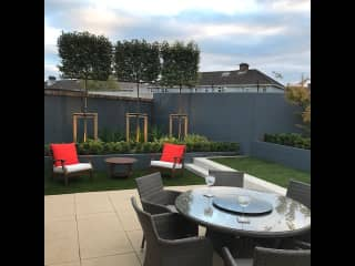 Back garden with furniture