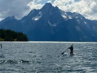 Paddling in the Tetons