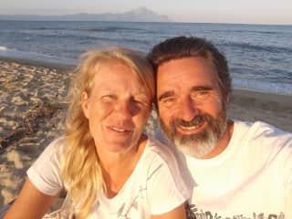 Beautiful Sarti beach in northern Greece