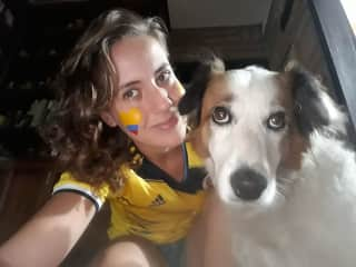 Myself with my dog, Chusma.