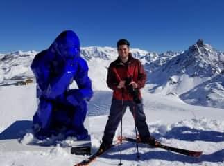Skiing and philosophizing!