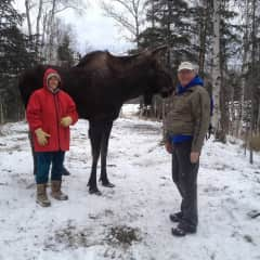 Arlen and Susan and our friend Moose