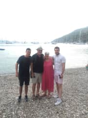 With my family in Croatia