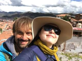 Masha and geoff in Cusco