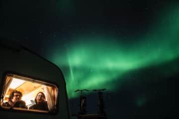 Northern lights gazing in Norway