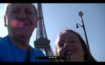 Selfie at Eiffel Tower.