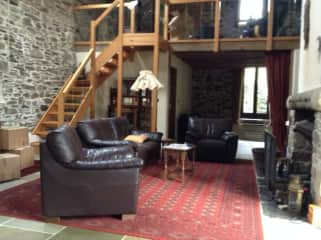 main living room with mezzanine