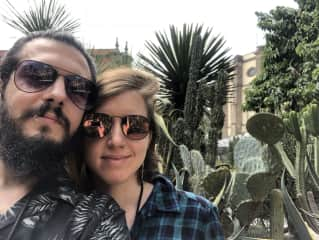 A picture of us from our travels in Mexico!!