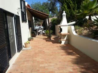 Rear villa and BBQ area