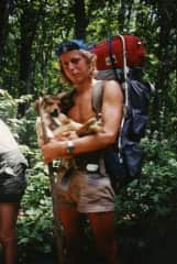 """This is an oldie from 1981 when I hiked the Appalachian Trail.  On that trip a puppy started following me in the Blue Ridge Mountains.  He continued to follow me for the next 16 years!  """"Blueridge"""" died 24 years ago and I still think of him often."""