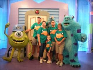 The family at Disney World