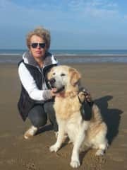 Linda and our beloved dog Picwic who passed away .
