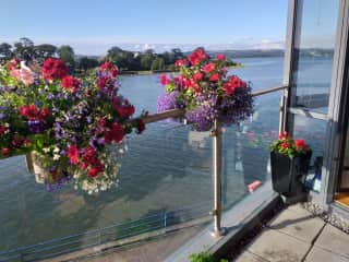 View from the balcony across the Douglas Estuary to the River Lee