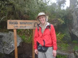 At the top of Wyanna Picchu in Peru