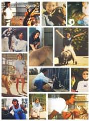 My favorite exotics: Cassidy the kangaroo, Luna the lemur, Lean the Hanuman langur, Fernando the llama, Katie the capybara, Thelma the guinea hog, Jodi the Siberian tiger, Zorro the racoon, Tyson the macaw, Jackie the muntjac deer, and Buffy the bobcat