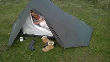 Camping at the Ayres, IOM.