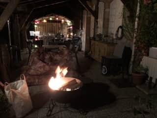 Outdoor Kitchen in Autum